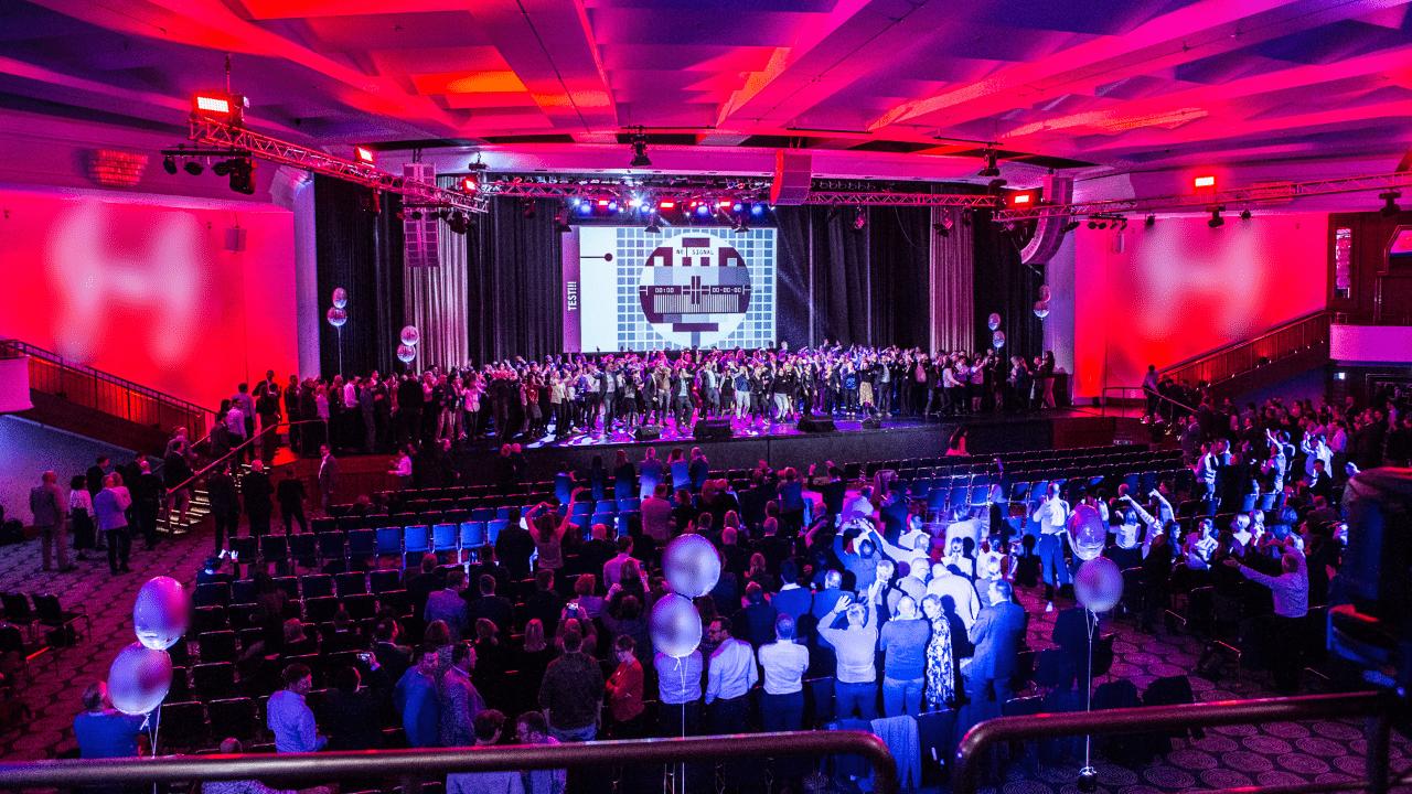 Geluid Licht en beeld tijdens event